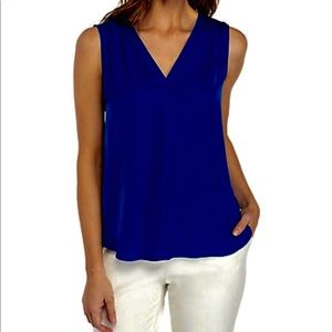 Vince Camuto V- Neck Rumple Blouse